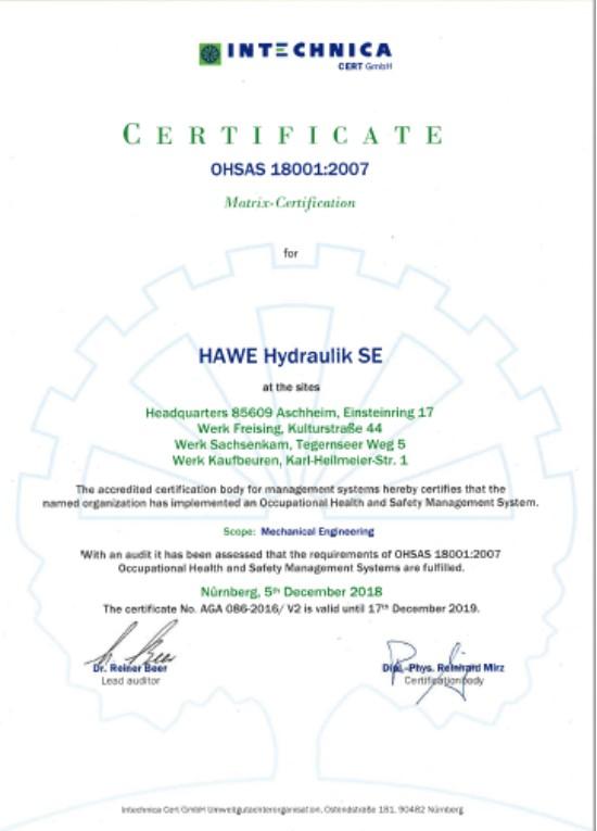 HAWE OHSAS 18001-2007 SE EN
